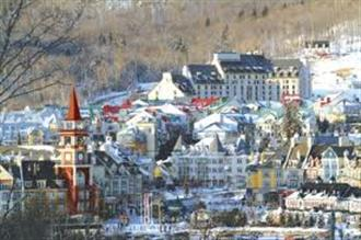 School ski holiday in Tremblant, Quebec Canada with Halsbury Travel Ltd.