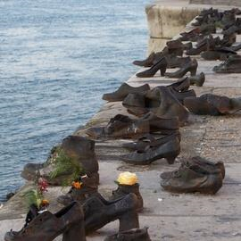 Shoes on Danube Embankment